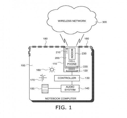 Google patentiert Notebook mit integriertem Smartphon
