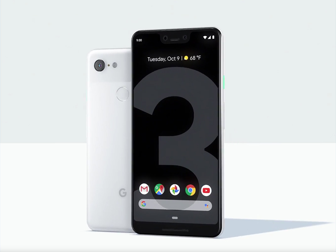 Google Pixel 3 und Pixel 3 XL Rückseite an Rückseite
