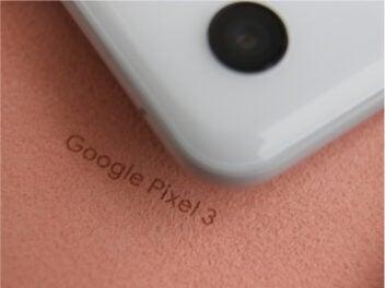 Google Pixel 3 Schriftzug