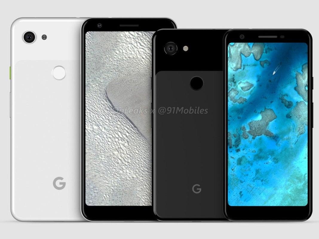 Google Pixel 3 und Pixel 3 XL Lite Gerücht-Renderbild