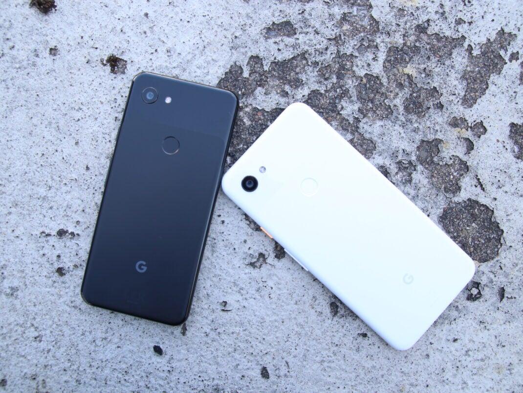 Google Pixel 3a XL und Pixel 3a Rückseite