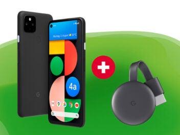 Google Pixel 4a 5G und Chromecast