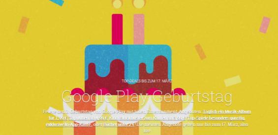Screenshot der Google-Play-Store-Geburtstagsseite
