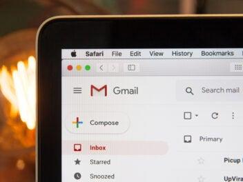 Screenshot von Gmail in Safari auf einem Mac