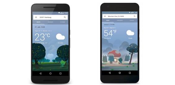 Google Wetter: Neues Design