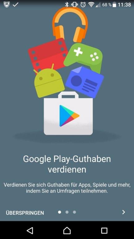 Gratis Play Store Guthaben Dank Umfrage App