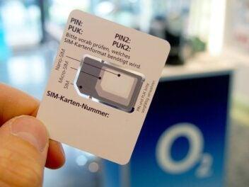 Half-SIM-Träger von O2