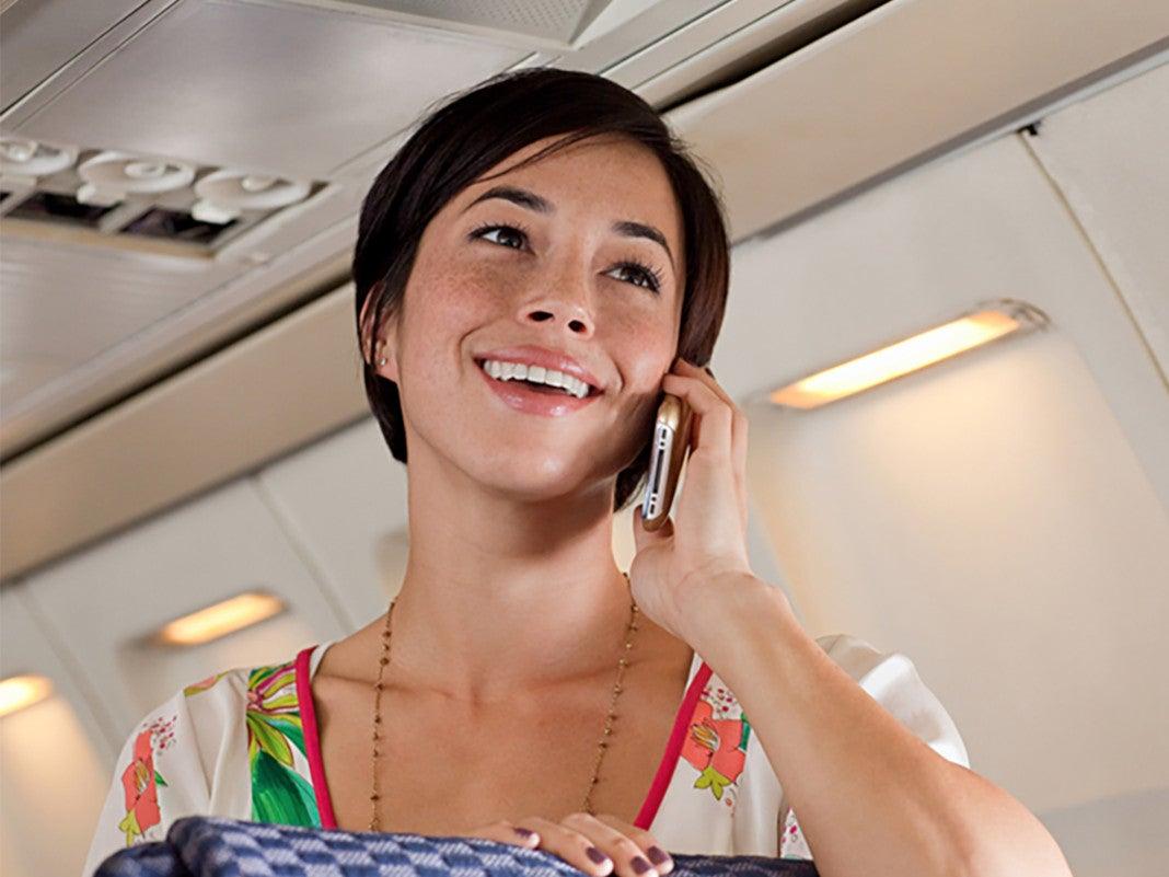 Handy im Flugzeug nutzen