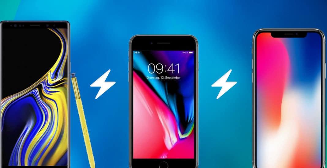Handy Vergleich Samsung Galaxy Note 9 vs. Apple iPhone X vs. Apple iPhone 8 Plus