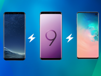 Samsung Galaxy S8,, S9 und S10 im Vergleich
