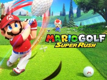 Mario schlägt einen Golfball.