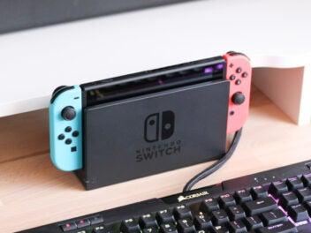 Eine Nintendo Switch Konsole.