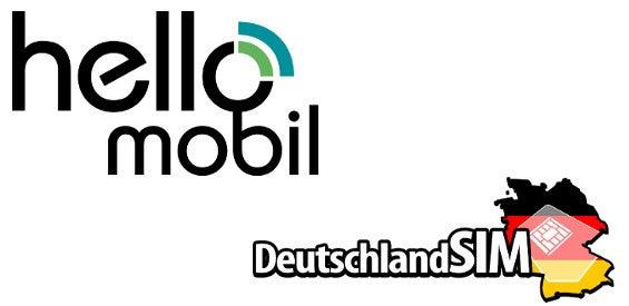 HelloMobil und DeutschlandSIM Logo