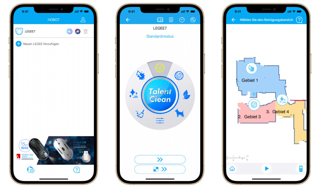 Die Hobot Legee 7 App im Test