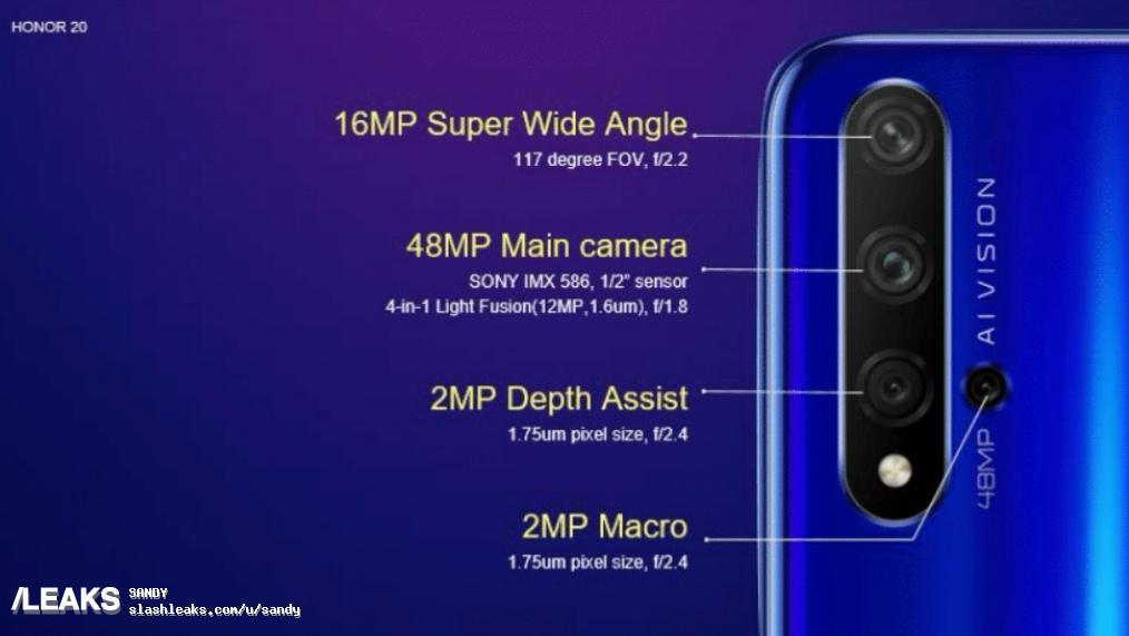 Smartphone mit beschrifteter Kamera