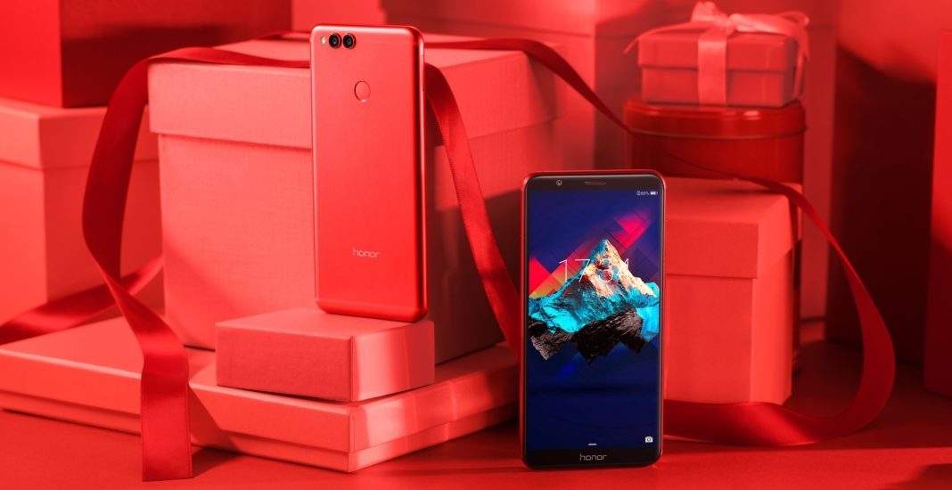 Honor 7X in Rot