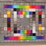 Ein Foto des Testcharts, aufgenommen vom Honor Play