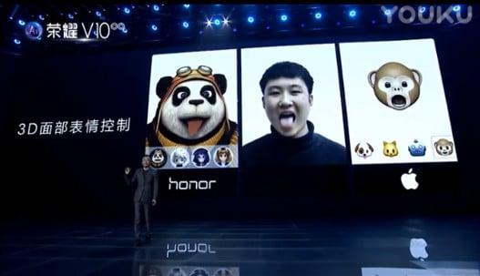 Honor V10 Animojis