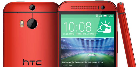HTC One M8 in Rot
