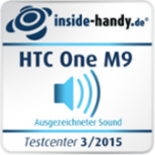 HTC One M9 Sound-Testsiegel