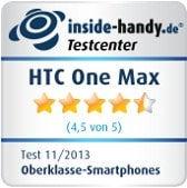 HTC One Max Testsiegel