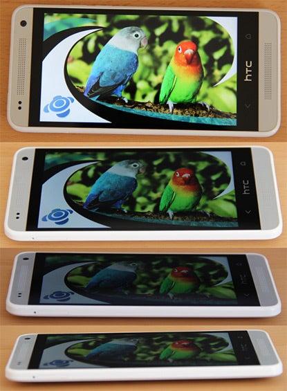 HTC One mini Dispaly aus verschiedenen Betrachtungswinkeln