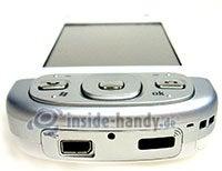 HTC P3600: Draufsicht unten