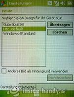 HTC P3600: Einstellungen