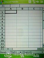 HTC P3600: Excel