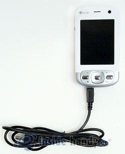 HTC P3600: mit USB-Kabel