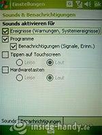 HTC P3600: Sounds