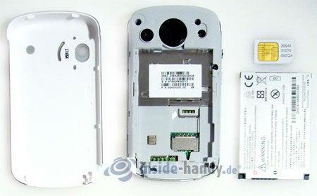 HTC P3600: zerlegt in Bestandteile
