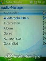 HTC P4350: Audio-Manager
