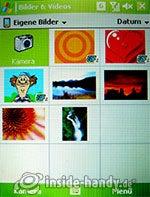 HTC P4350: Bilder
