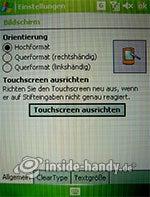 HTC P4350: Bildschirmeinstellungen