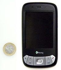 HTC P4350: Größenverhältnis