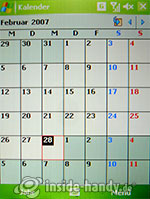 HTC P4350: Kalender