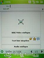 HTC P4350: MMS schreiben