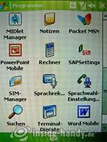 HTC P4350: Programme