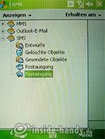 HTC P4350: SMS-Ordner