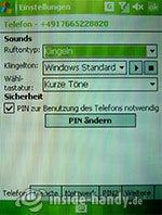 HTC P4350: Soundeinstellungen
