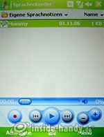 HTC P4350: Sprachrekorder