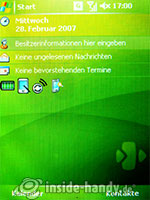 HTC P4350: Startbildschirm