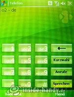 HTC P4350: Telefonseite