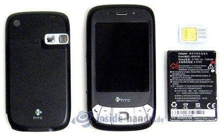 HTC P4350: zerlegt in Bestandteile
