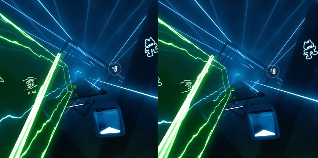 Beat Saber auf der HTC Vive Cosmos Elite