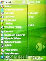 HTC-P3350: Hauptmenü