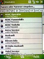 HTC-P3350: Kontakte