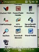 HTC-P3350: Programme