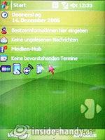 HTC-P3350: Startbildschirm